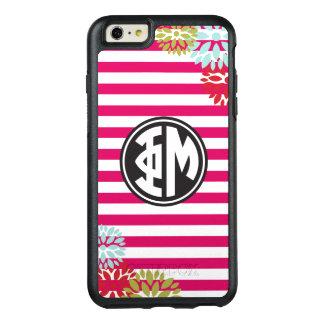 Phi Mu | Monogram Stripe Pattern OtterBox iPhone 6/6s Plus Case