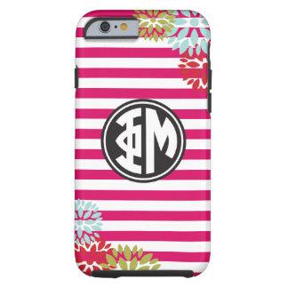 Phi Mu | Monogram Stripe Pattern Tough iPhone 6 Case