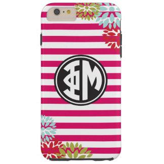 Phi Mu | Monogram Stripe Pattern Tough iPhone 6 Plus Case