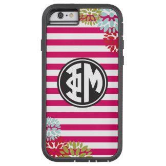 Phi Mu | Monogram Stripe Pattern Tough Xtreme iPhone 6 Case