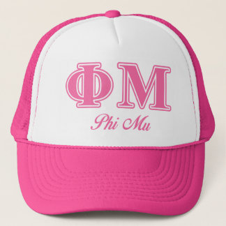 Phi Mu Pink Letters Cap