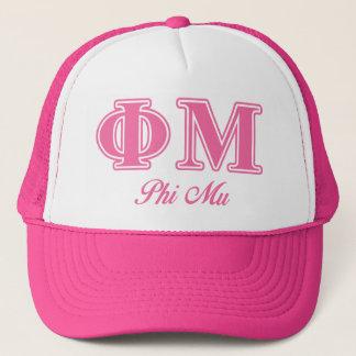 Phi Mu Pink Letters Trucker Hat