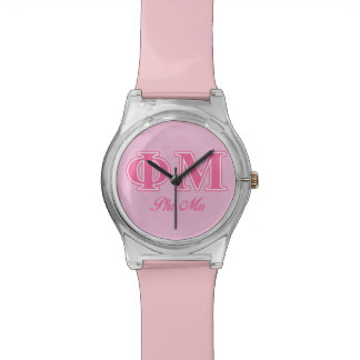 Phi Mu Pink Letters Watch