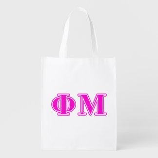 Phi Mu Pink/Purple Letters