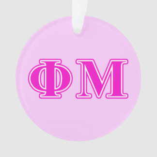Phi Mu Pink/Purple Letters Ornament