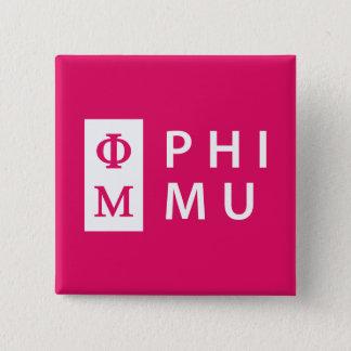 Phi Mu Stacked 15 Cm Square Badge