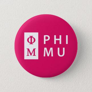 Phi Mu Stacked 6 Cm Round Badge