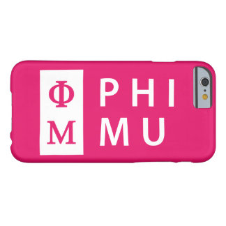 Phi Mu Stacked Barely There iPhone 6 Case