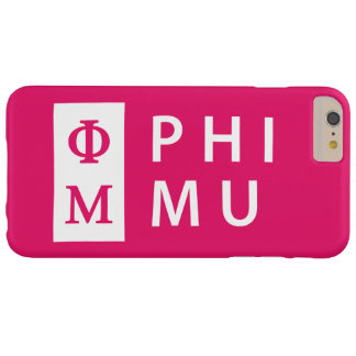Phi Mu Stacked Barely There iPhone 6 Plus Case
