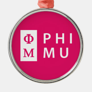 Phi Mu Stacked Christmas Ornament
