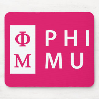 Phi Mu Stacked Mouse Mat