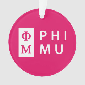 Phi Mu Stacked Ornament