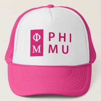 Phi Mu Stacked Trucker Hat