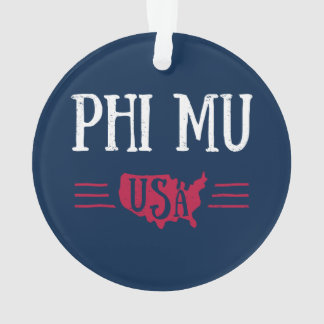 Phi Mu - USA Ornament