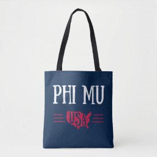 Phi Mu - USA Tote Bag