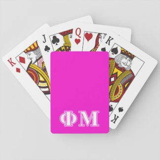 Phi Mu White Letters Playing Cards