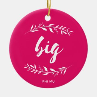 Phi Mu Wreath Big Christmas Ornament