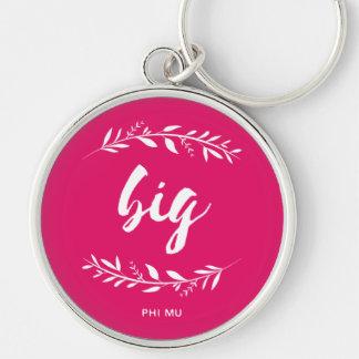 Phi Mu Wreath Big Key Ring