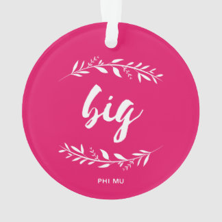 Phi Mu Wreath Big Ornament