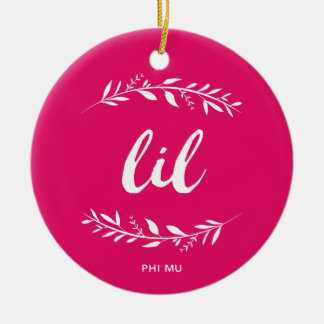 Phi Mu Wreath Lil Christmas Ornament