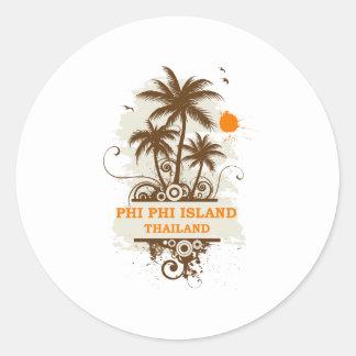 Phi Phi Island Thailand Classic Round Sticker