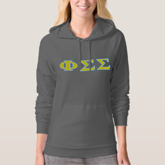 Phi Sigma Sigma Blue and Yellow Letters Hoodie