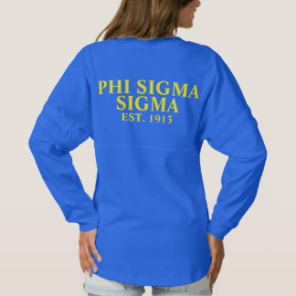 Phi Sigma Sigma Blue and Yellow Letters Spirit Jersey