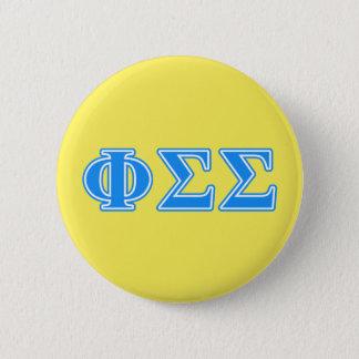 Phi Sigma Sigma Blue Letters 6 Cm Round Badge