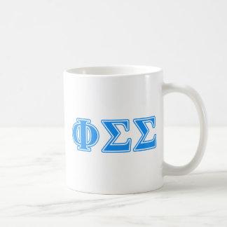Phi Sigma Sigma Blue Letters Coffee Mug