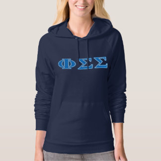 Phi Sigma Sigma Blue Letters Hoodie