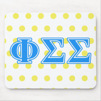 Phi Sigma Sigma Blue Letters Mouse Mat