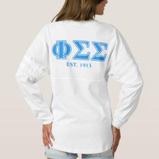 Phi Sigma Sigma Blue Letters Spirit Jersey