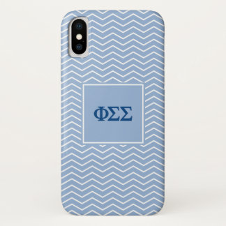 Phi Sigma Sigma | Chevron Pattern iPhone X Case