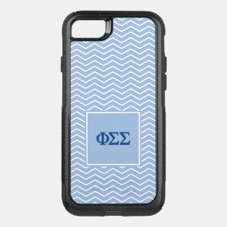 Phi Sigma Sigma | Chevron Pattern OtterBox Commuter iPhone 7 Case
