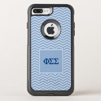 Phi Sigma Sigma | Chevron Pattern OtterBox Commuter iPhone 8 Plus/7 Plus Case