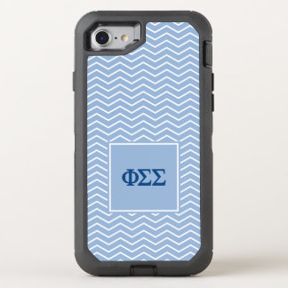 Phi Sigma Sigma | Chevron Pattern OtterBox Defender iPhone 8/7 Case