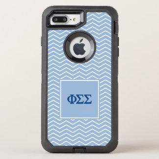 Phi Sigma Sigma   Chevron Pattern OtterBox Defender iPhone 8 Plus/7 Plus Case