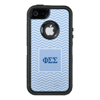 Phi Sigma Sigma | Chevron Pattern OtterBox Defender iPhone Case