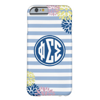 Phi Sigma Sigma | Monogram Stripe Pattern Barely There iPhone 6 Case