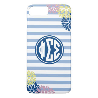 Phi Sigma Sigma | Monogram Stripe Pattern iPhone 8 Plus/7 Plus Case