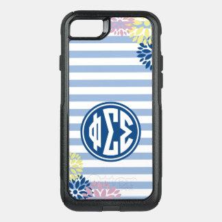 Phi Sigma Sigma | Monogram Stripe Pattern OtterBox Commuter iPhone 7 Case
