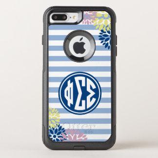 Phi Sigma Sigma | Monogram Stripe Pattern OtterBox Commuter iPhone 8 Plus/7 Plus Case
