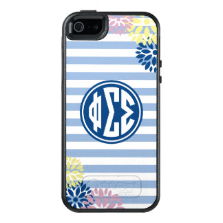 Phi Sigma Sigma | Monogram Stripe Pattern OtterBox iPhone 5/5s/SE Case