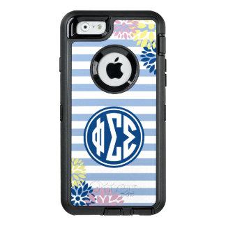 Phi Sigma Sigma | Monogram Stripe Pattern OtterBox iPhone 6/6s Case