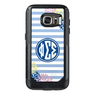 Phi Sigma Sigma | Monogram Stripe Pattern OtterBox Samsung Galaxy S7 Case
