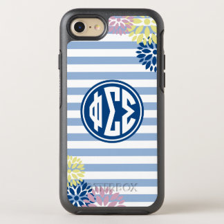 Phi Sigma Sigma | Monogram Stripe Pattern OtterBox Symmetry iPhone 8/7 Case