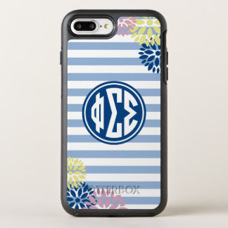 Phi Sigma Sigma | Monogram Stripe Pattern OtterBox Symmetry iPhone 8 Plus/7 Plus Case