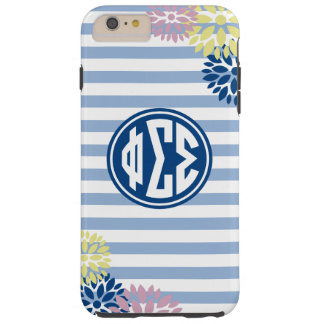 Phi Sigma Sigma | Monogram Stripe Pattern Tough iPhone 6 Plus Case