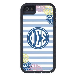 Phi Sigma Sigma | Monogram Stripe Pattern Tough Xtreme iPhone 5 Case