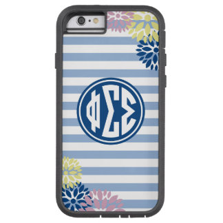 Phi Sigma Sigma | Monogram Stripe Pattern Tough Xtreme iPhone 6 Case